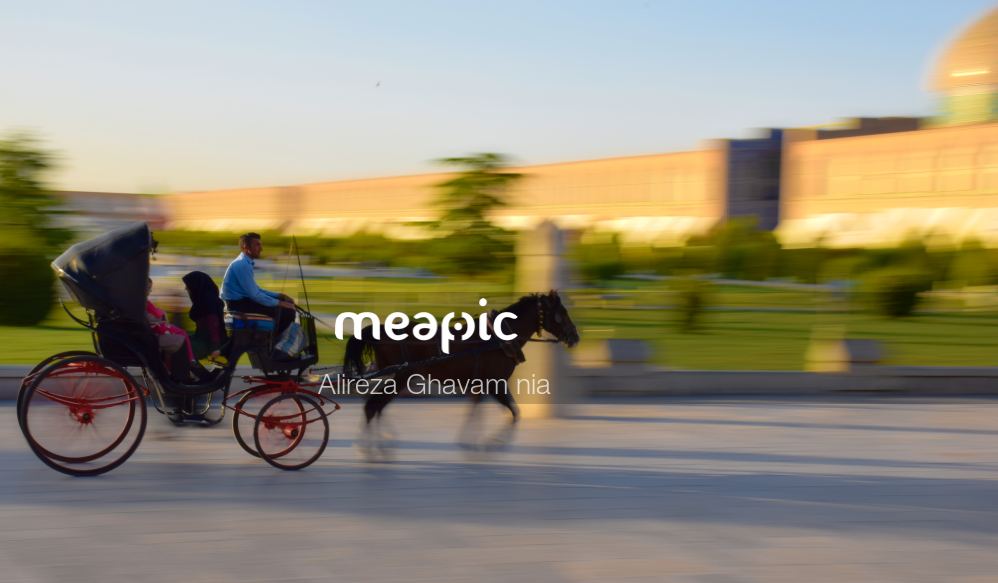 Man Riding A Horse Drawn Carriage Stock Photo · Meapic
