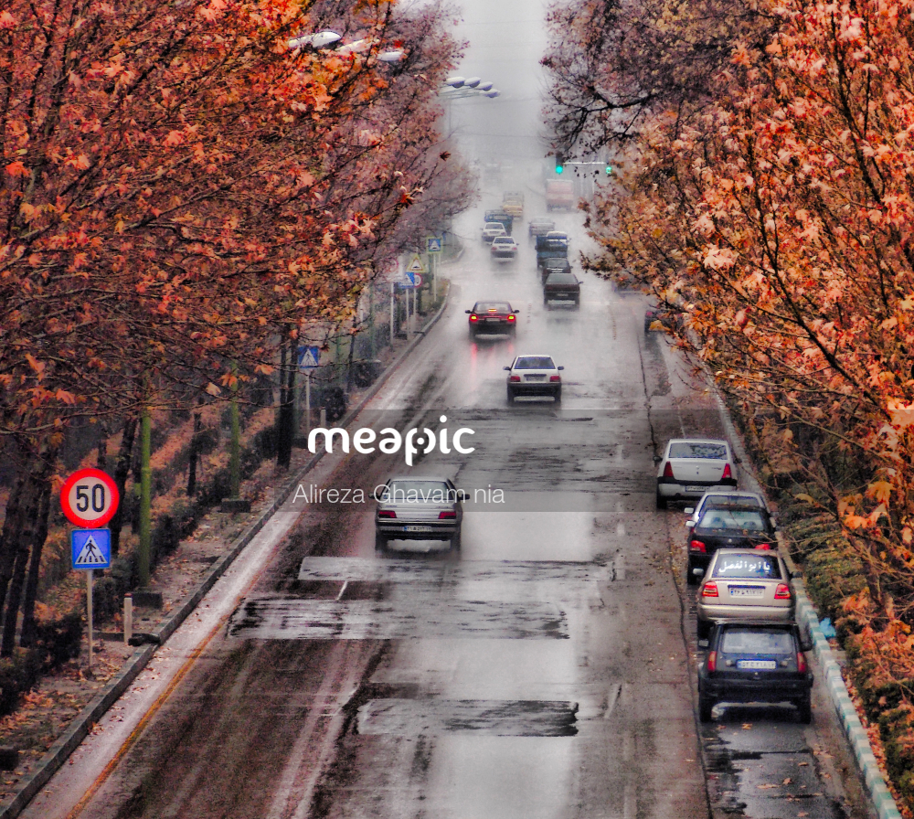 Street Filled With Lots Of Traffic Stock Photo · Meapic