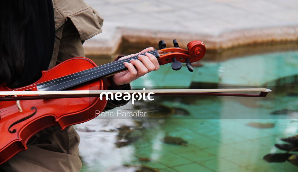 Person Holding A Violin Stock Photo · Meapic