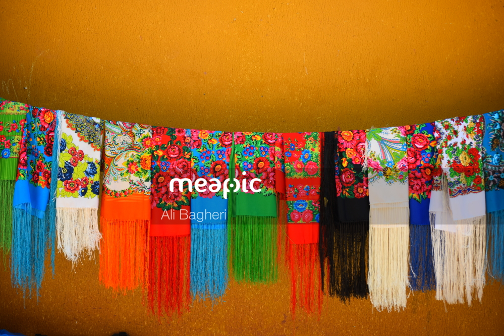 Close Up Of A Colorful Wall Stock Photo · Meapic