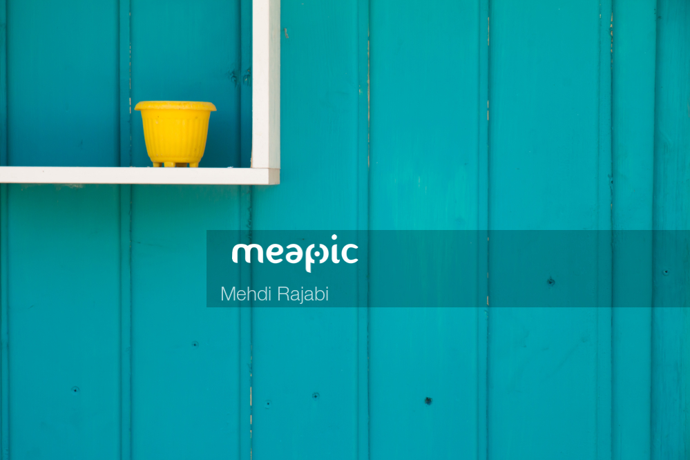 Close Up Of A Blue Door Stock Photo · Meapic