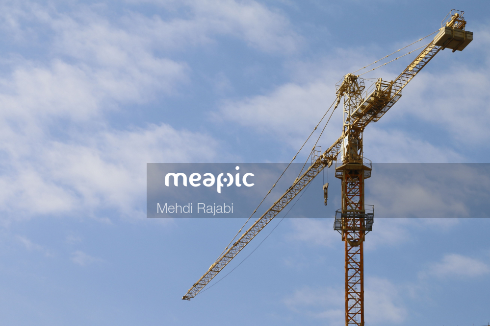 Crane In The Background Stock Photo · Meapic