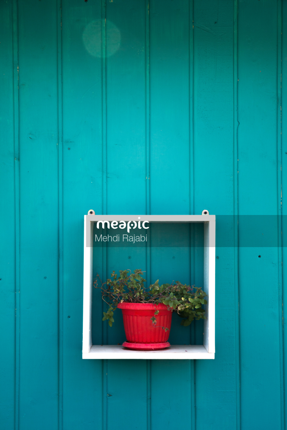 Red White And Blue Door Stock Photo · Meapic