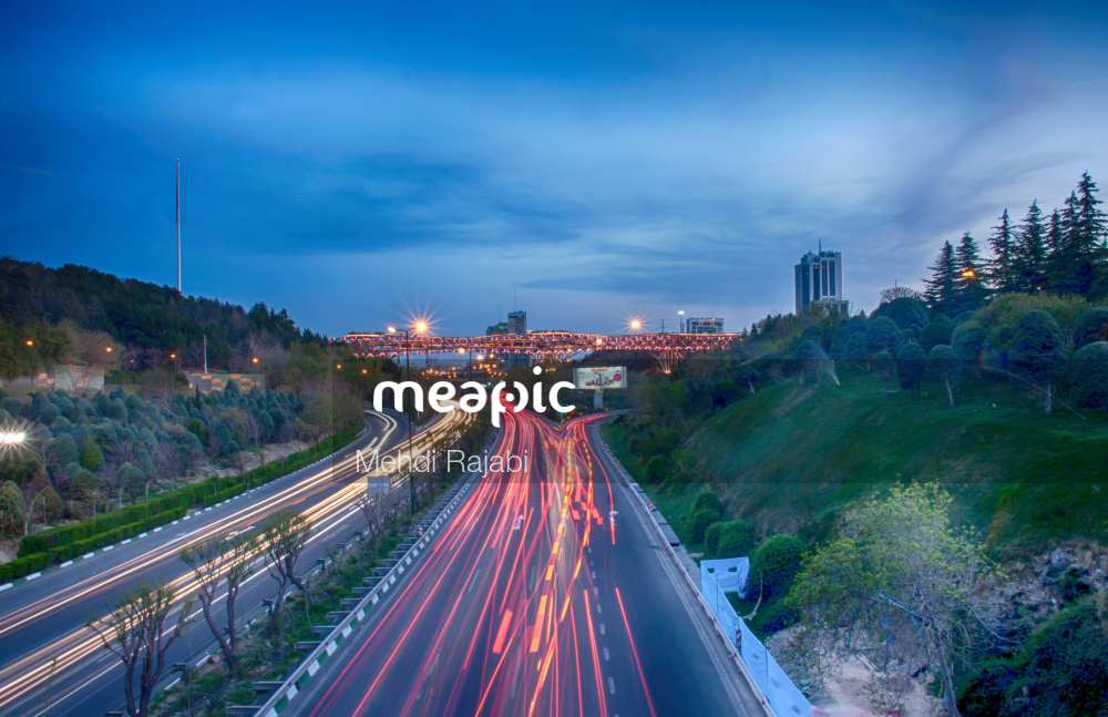 Large Long Train On A Highway Stock Photo · Meapic