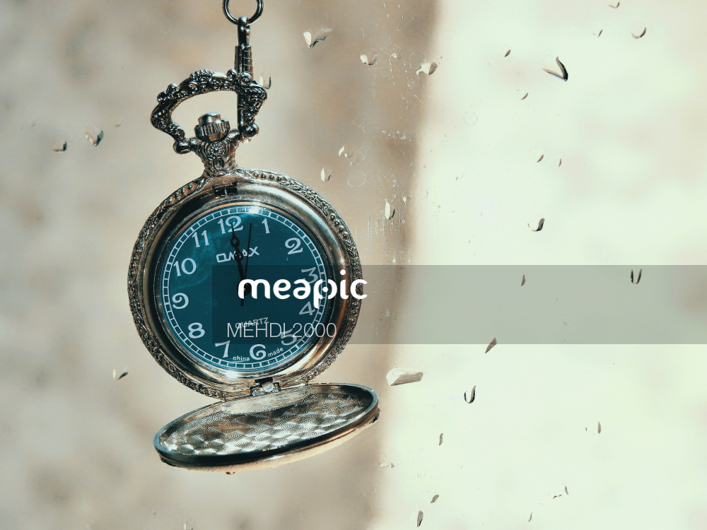 Clock In The Middle Of A Watch Stock Photo · Meapic