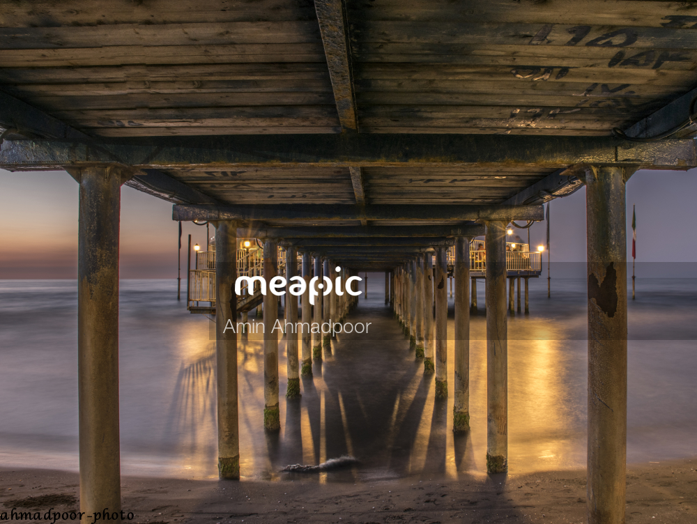 Wooden Pier Next To Water Stock Photo · Meapic