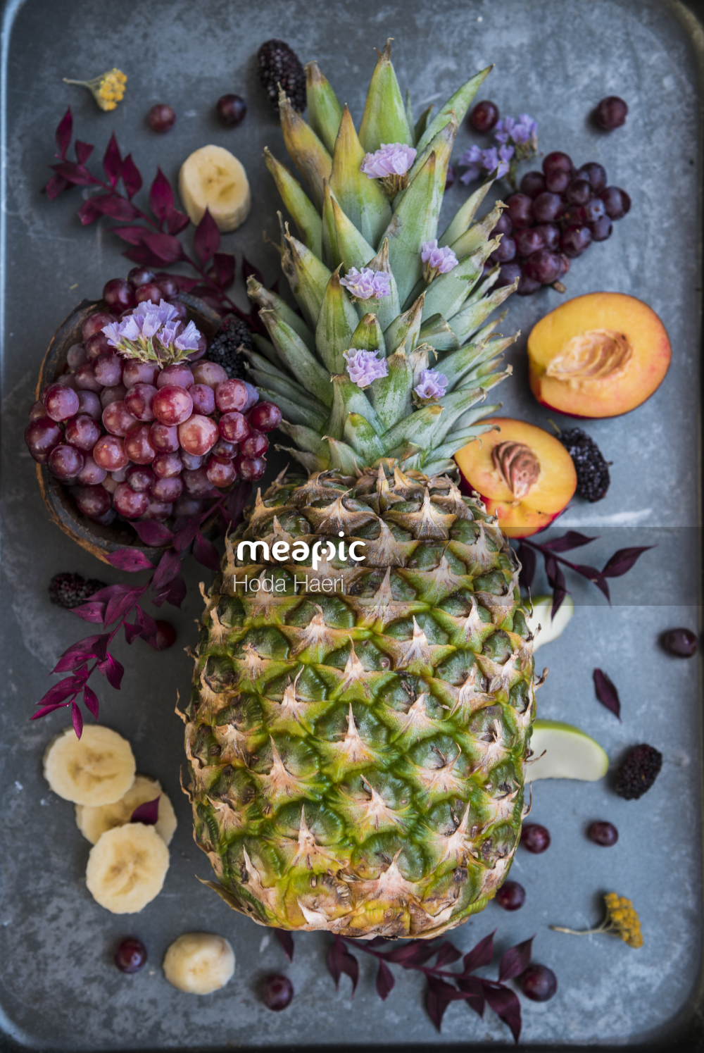 Close Up Of A Pineapple Stock Photo · Meapic