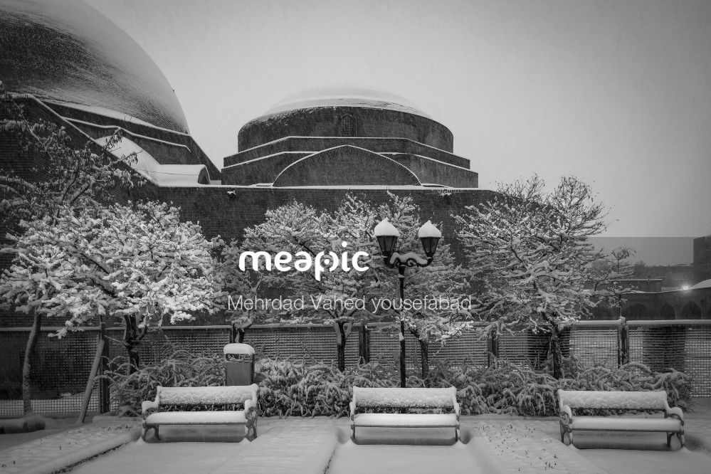 Black And White Photo Of A Bench Stock Photo · Meapic