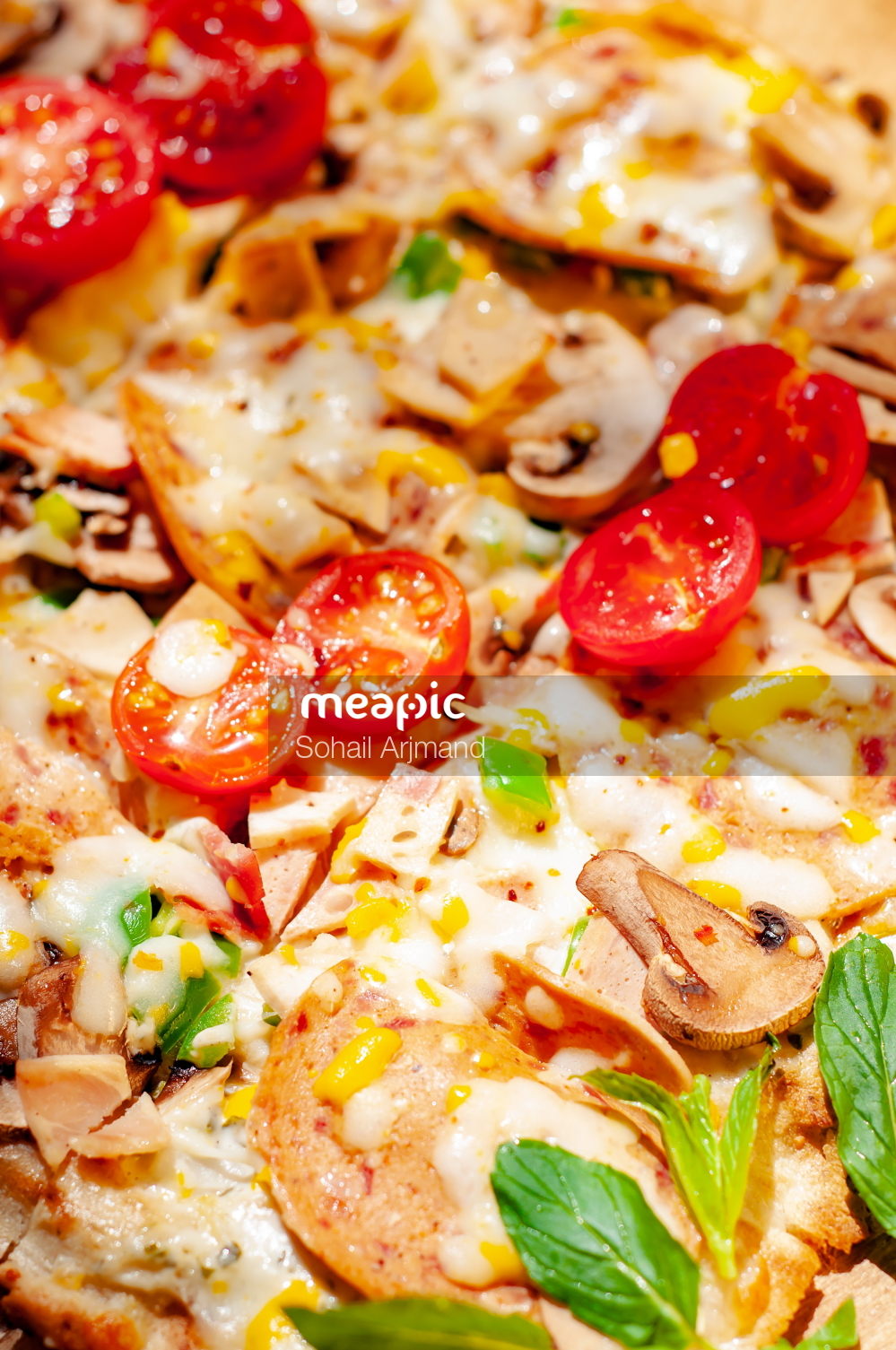 Close Up Of A Pizza Stock Photo · Meapic
