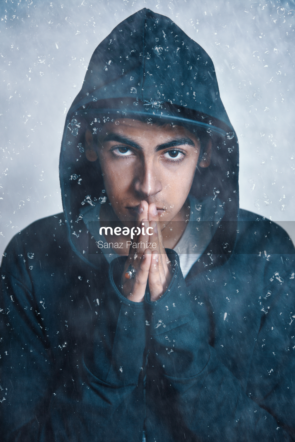 Person Wearing A Black Jacket Stock Photo · Meapic