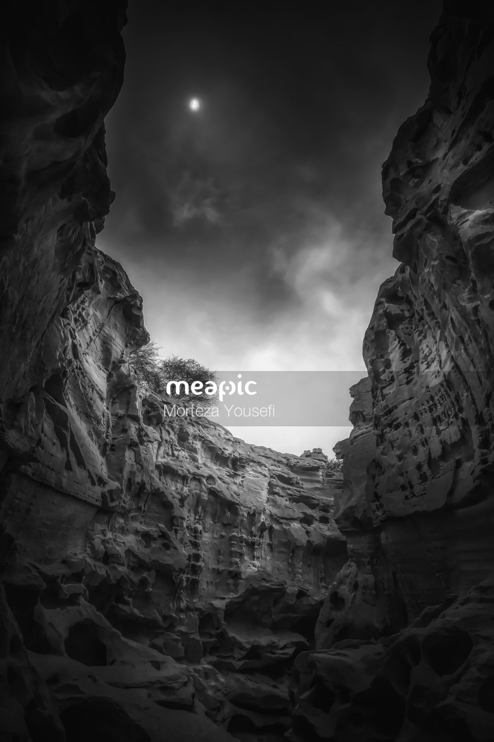 Person In A Canyon Stock Photo · Meapic