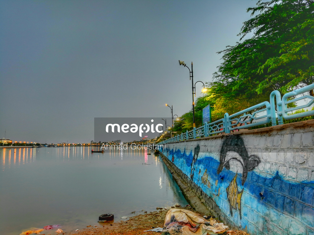 Bridge Over A Body Of Water Stock Photo · Meapic