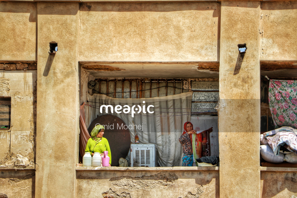 The Inside Of A Building Stock Photo · Meapic
