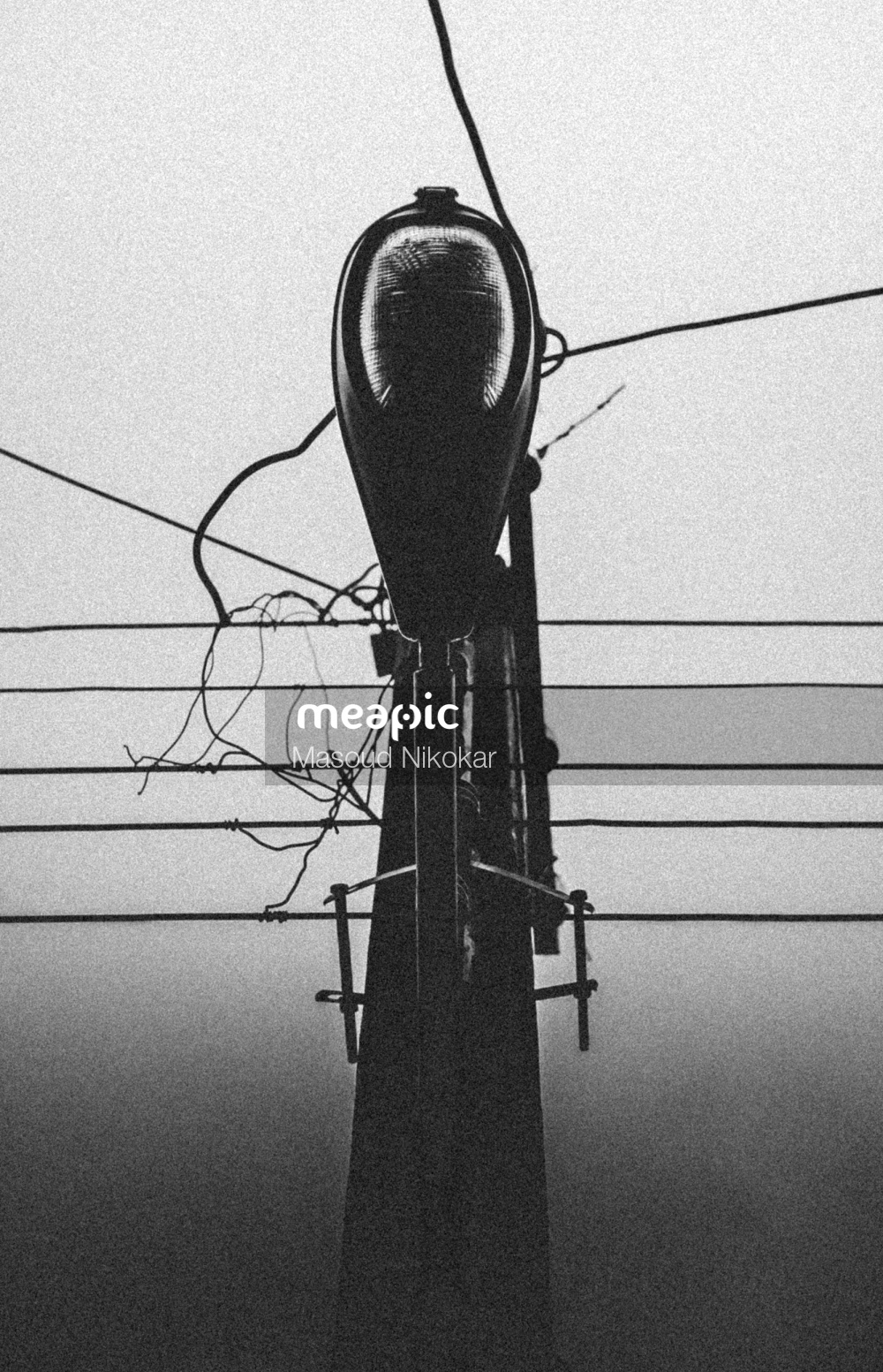 Traffic Light Hanging From A Wire Stock Photo · Meapic