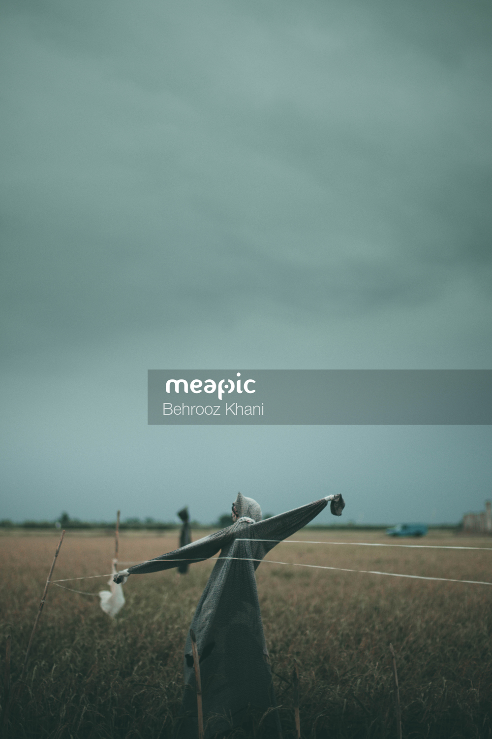 Large Air Plane On A Cloudy Day Stock Photo · Meapic