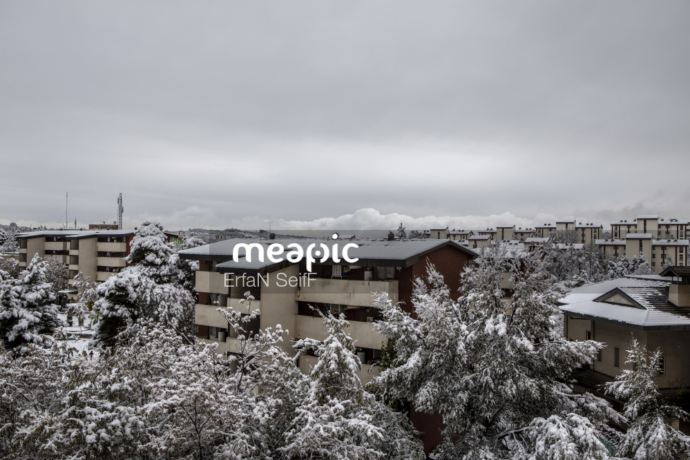 House Covered In Snow Stock Photo · Meapic