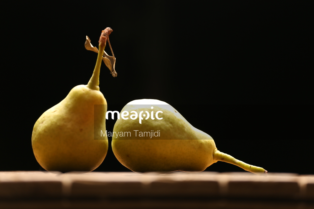 Close Up Of A Pear Stock Photo · Meapic