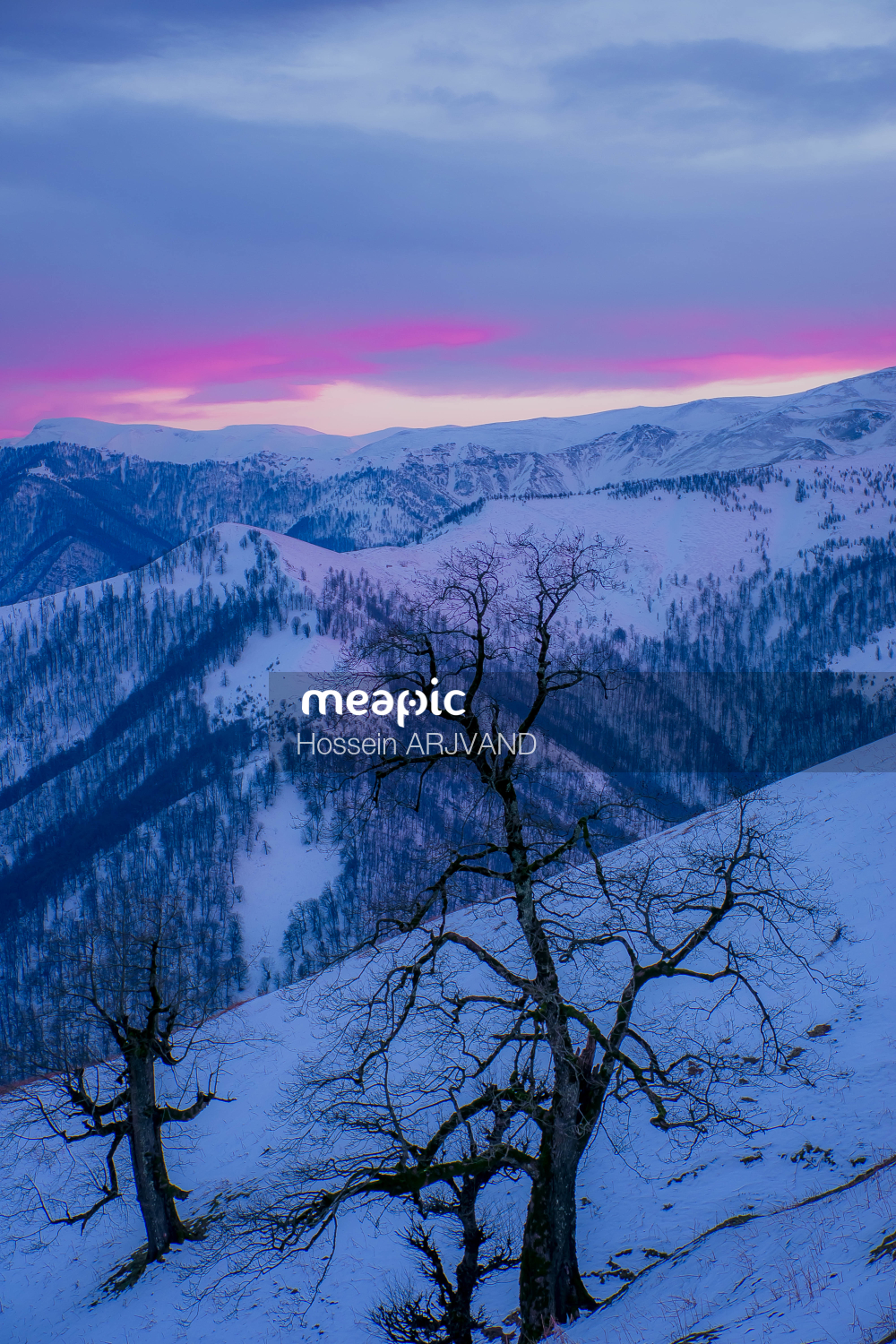 Snow Covered Mountain Stock Photo · Meapic