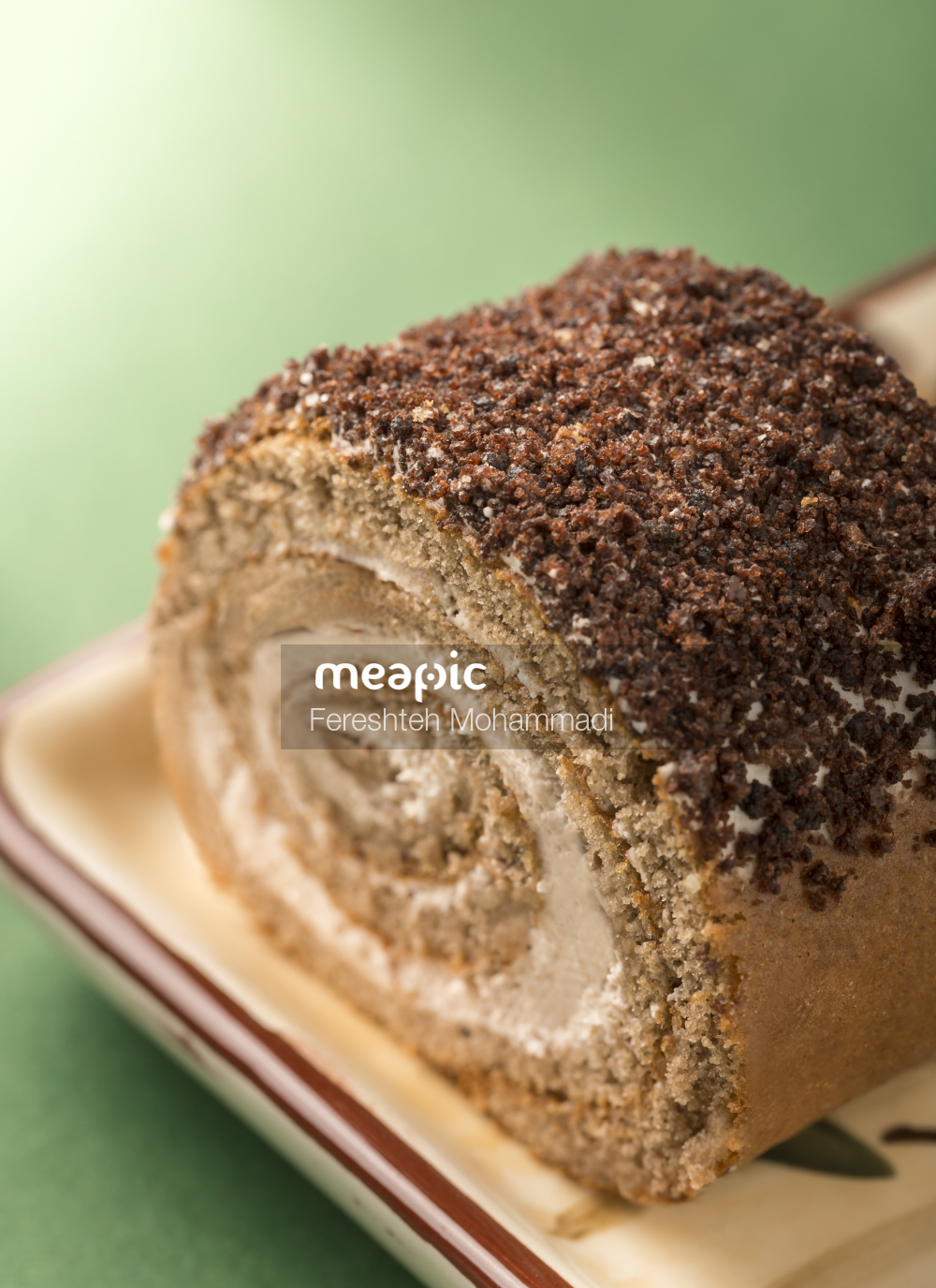 Piece Of Chocolate Cake On A Plate Stock Photo · Meapic