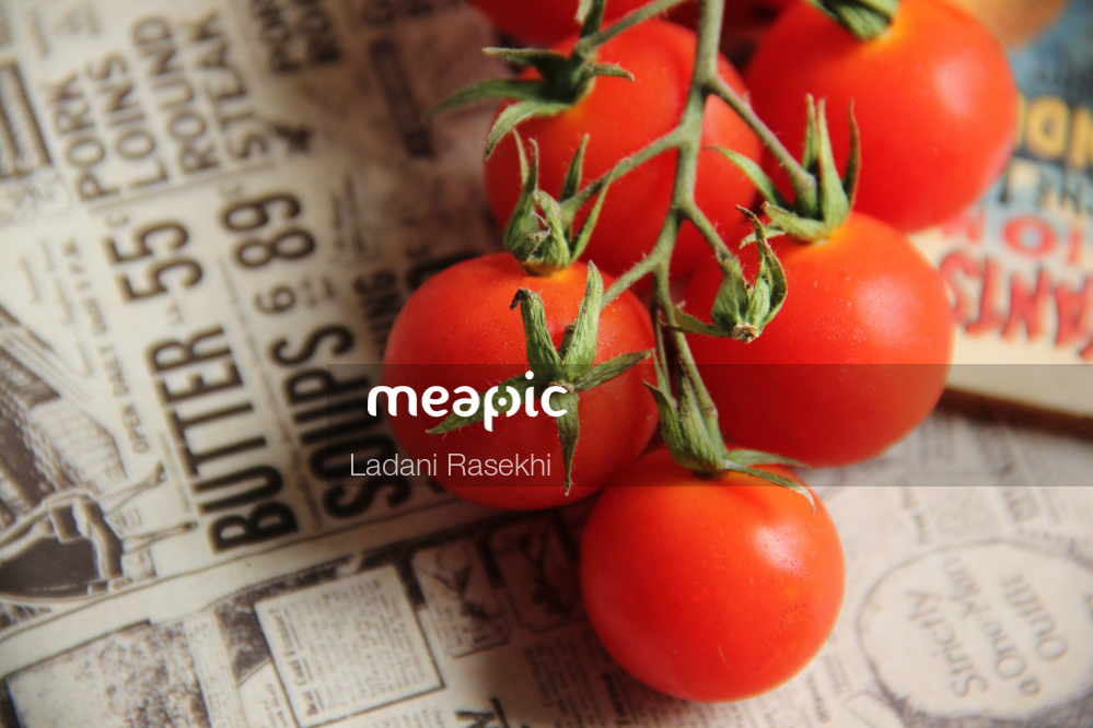 Close Up Of A Tomato Stock Photo · Meapic