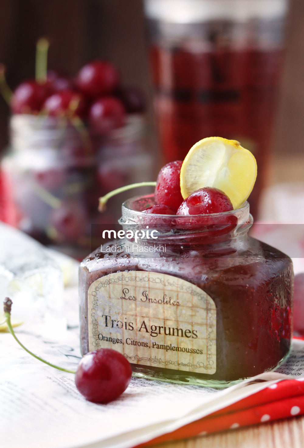 Cake With Fruit On Top Of A Table Stock Photo · Meapic