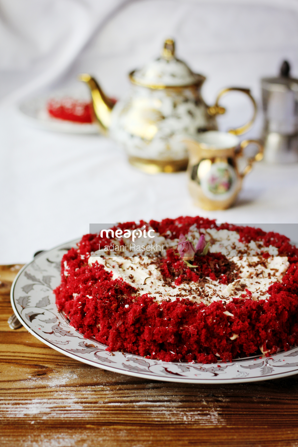 Close Up Of A Cake On A Plate Stock Photo · Meapic