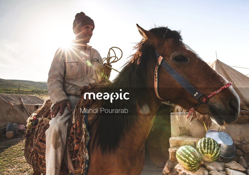 Person Riding A Horse Stock Photo · Meapic