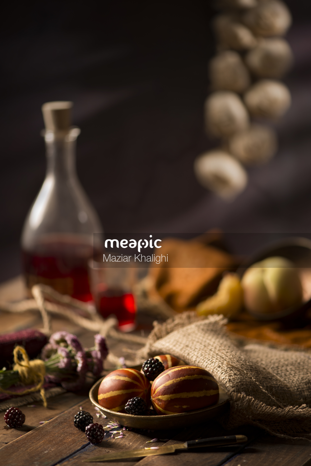 Close Up Of Food On A Table Stock Photo · Meapic