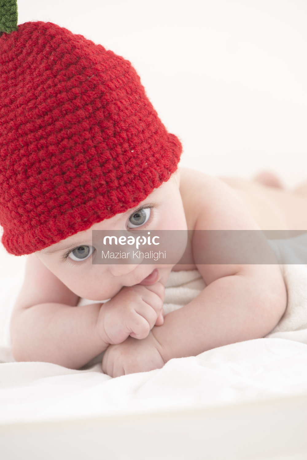 Baby Wearing A Hat Stock Photo · Meapic
