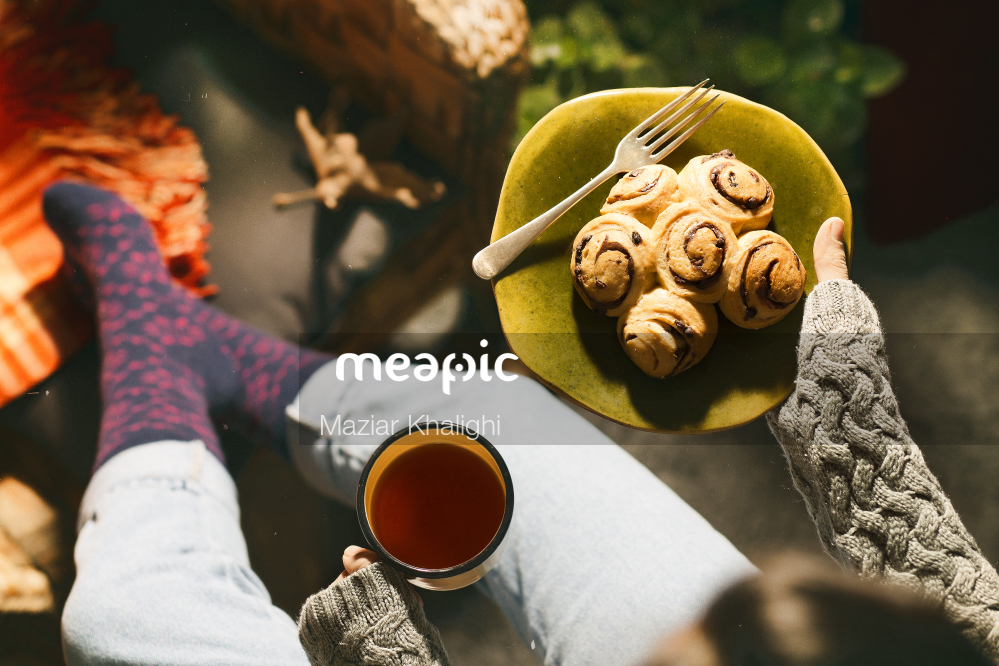 Person Holding A Plate Of Food Stock Photo · Meapic