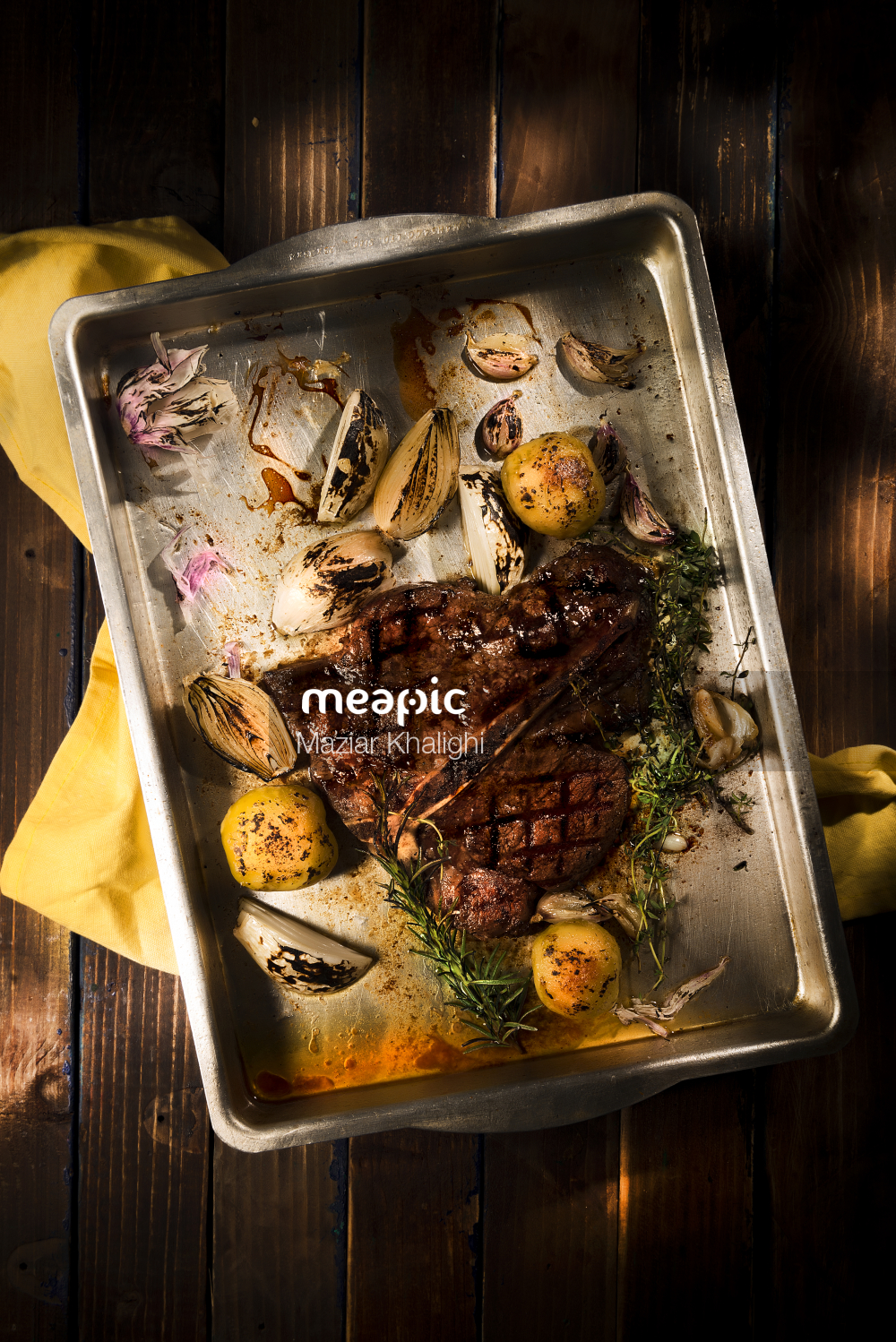 Tray Of Food Stock Photo · Meapic