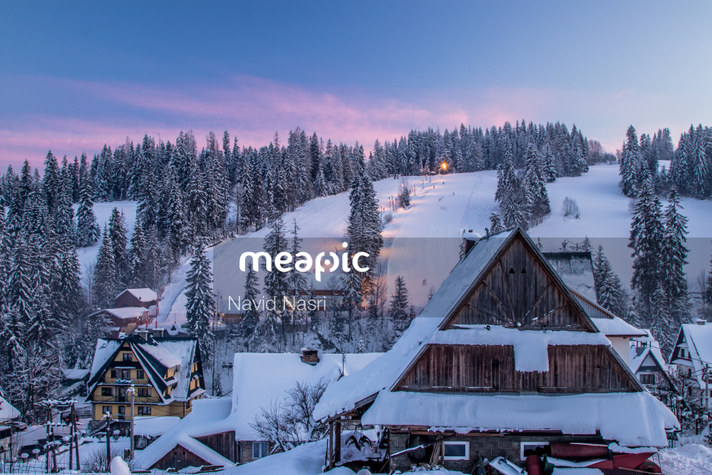 View Of A Snow Covered Slope Stock Photo · Meapic