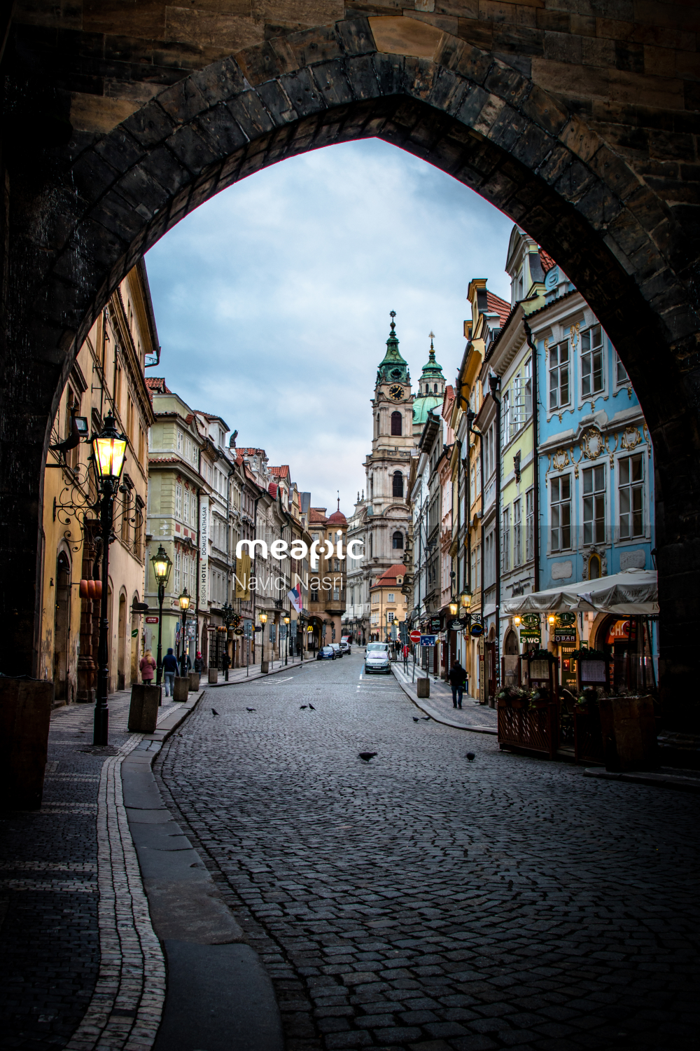 View Of A City Street Stock Photo · Meapic
