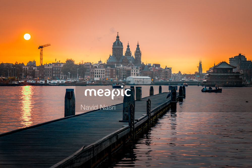 Long Bridge Over A Body Of Water Stock Photo · Meapic