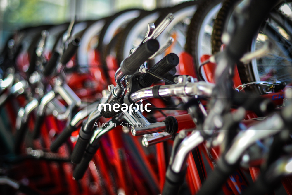 Close Up Of A Bicycle Stock Photo · Meapic