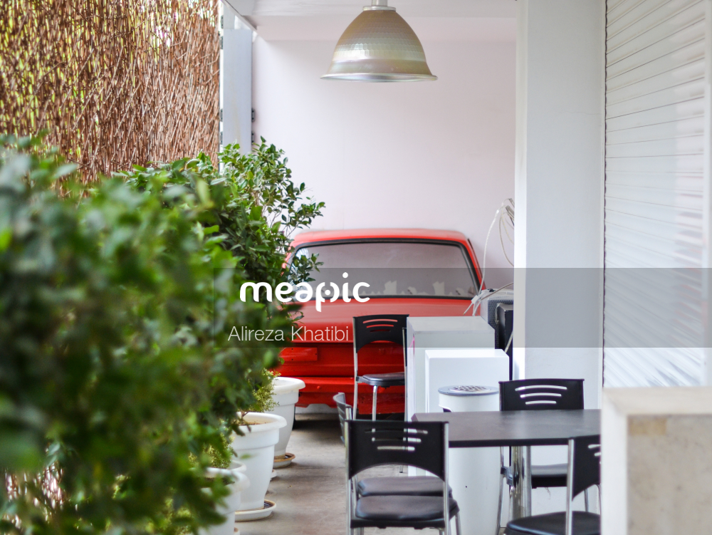 Red And White Furniture Stock Photo · Meapic