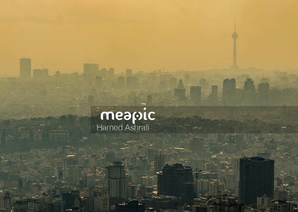 Tehran Pollution Stock Photo · Meapic